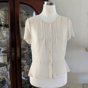 New, With Tags Cream Lace Blouse MEDIUM